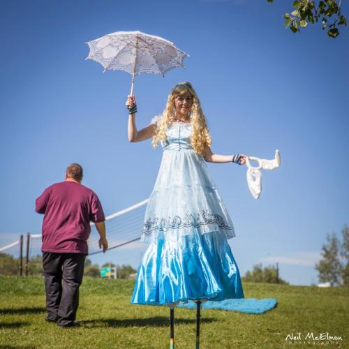 Alice in Wonderland Stilt Walking Character