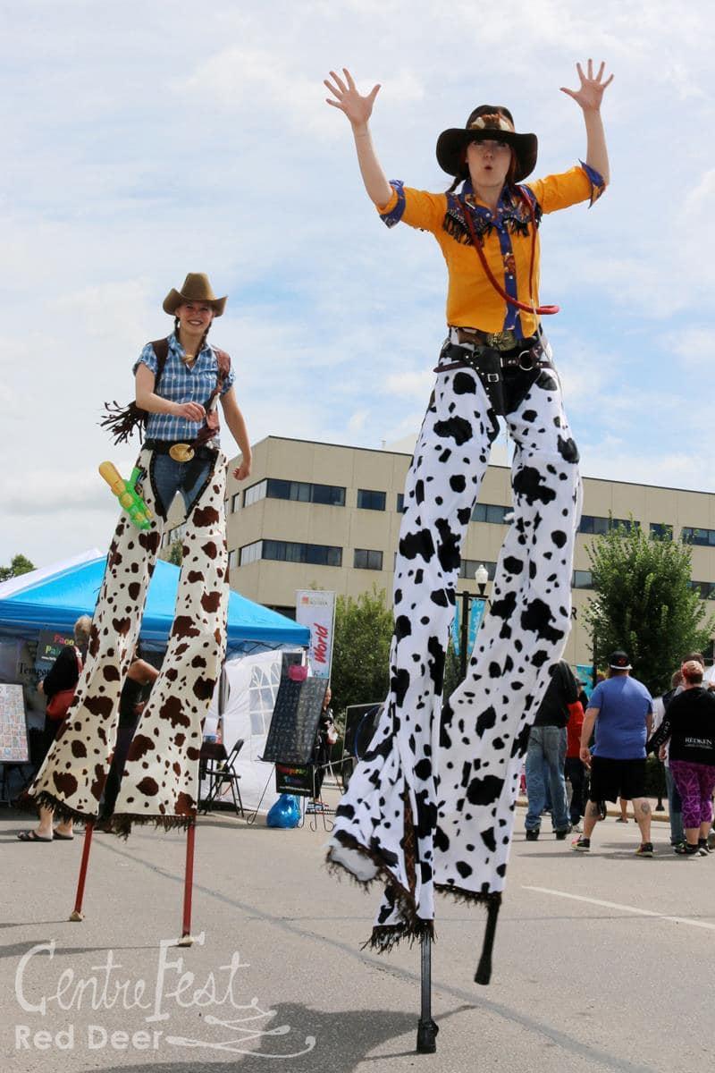 Calgary Cowboy Stilt Walker For Stampede Carisa Hendrix